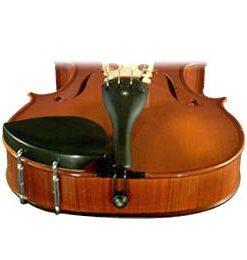Kaufman Viola Chinrest - Ebony - Large Plate